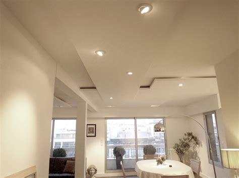 Led Eclairage Plafond by Eclairage Faux Plafond Cuisine Faire Un Faux Plafond Avec