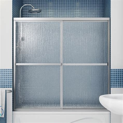 Raindrop Glass Shower Door Polar 60 Quot Tub Door W Raindrop Glass By Maax Bargain Outlet