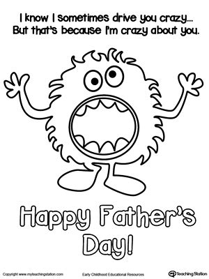 father day cards to color father s day card crazy about you coloring page