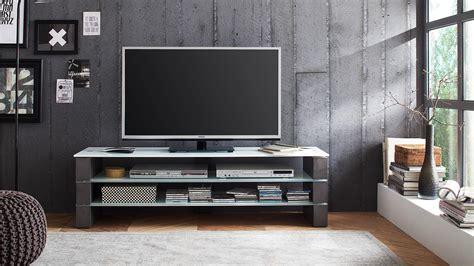 tv board beton tv rack olivias tv board lowboard beton grau und glas wei 223