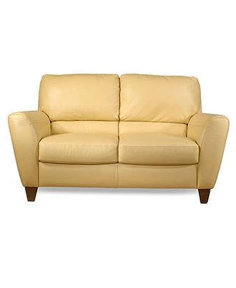 butter yellow leather sofa almafi leather loveseat