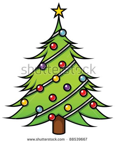 cartoon christmas tree december tree stock images royalty free images vectors