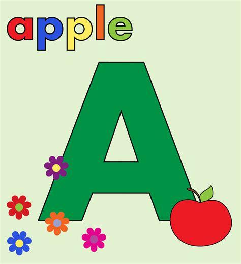 clipart apple alphabet a