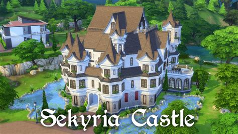 Tower House Plans by The Sims 4 Speed Building Castle Part 1 Exterior Youtube