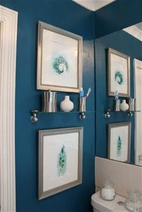 the transformative power of paint peacock blue bathroom