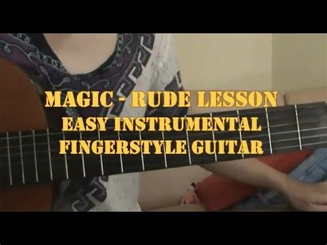 tutorial guitar rude guitar lesson magic rude on easy fingerstyle tabs