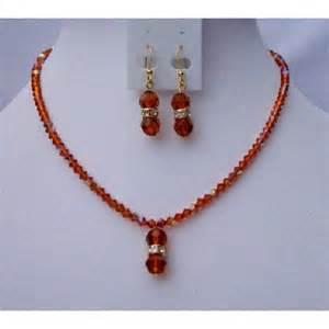 fall color handmade jewelry swarovski ab indian