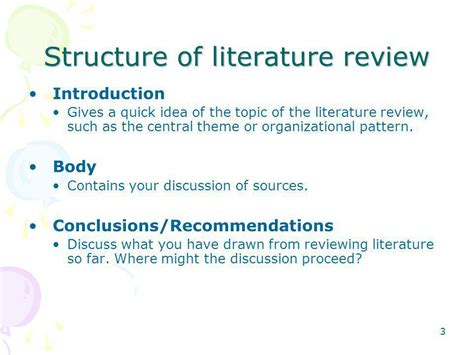 themes an introduction to literature writing and presenting literature review ppt download