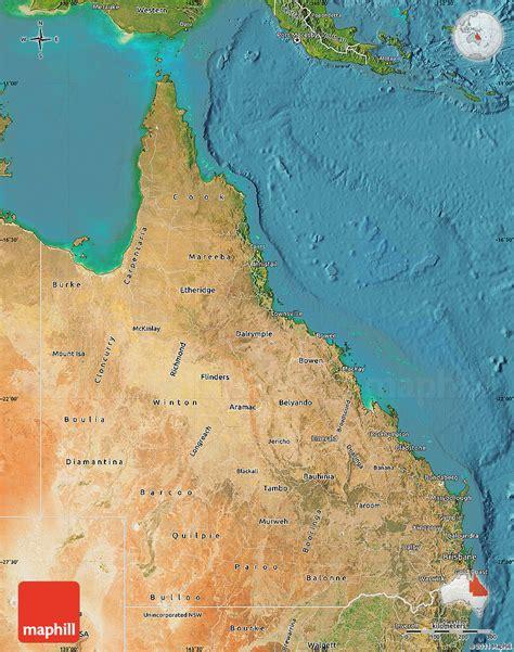 satellite map  queensland