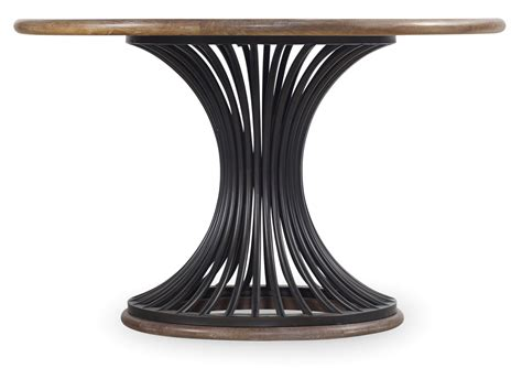 round dining table pedestal base 48 quot cinch round dining table with metal base by hooker