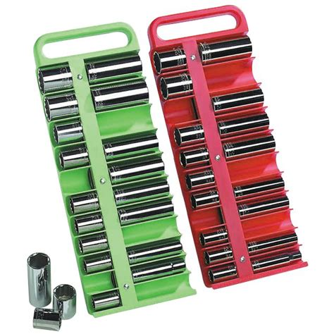 Socket Rack Set by Lisle 41377 2 Pc Magnetic Socket Holder Set Sears