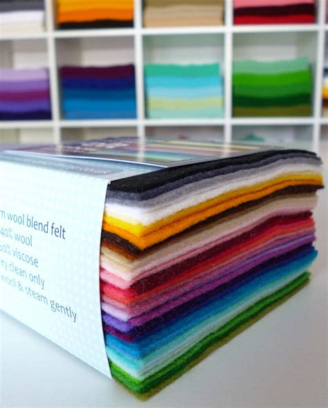 Craft Felt Paper - multicoloured pack of premium craft felt by paper and