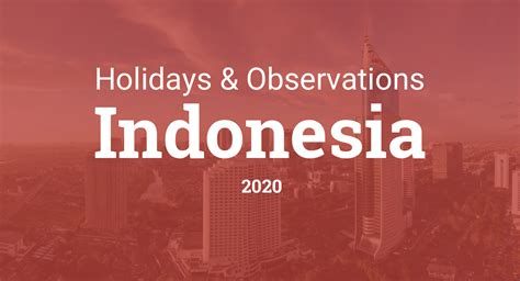 holidays  observances  indonesia