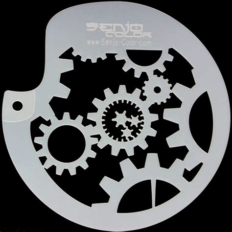 painting templates stencils bodyart gearwheel spray paint stencil circular