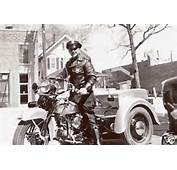 Vintage Police Harley Davidson Service Car Late 1940s  By