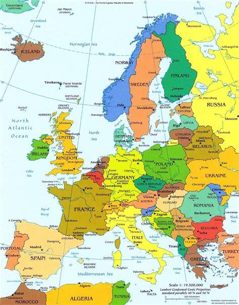 Europe Political Map by Europe Political Map Europe Mappery