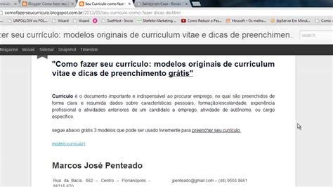 Modelo Curricular De Y Taba Como Fazer Seu Curr 237 Culo Modelos Originais De Curriculum Vitae E Dicas De Preenchimento Gr 225 Tis
