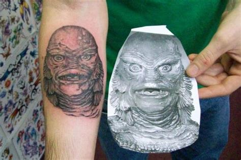 creature from the black lagoon tattoo creature from the black lagoon and source