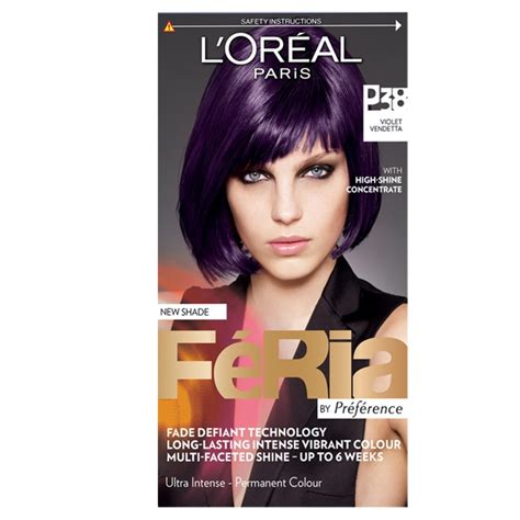 f ria hair colour from lor al paris hair skin make l oreal paris feria hair colour p38 violet vendetta
