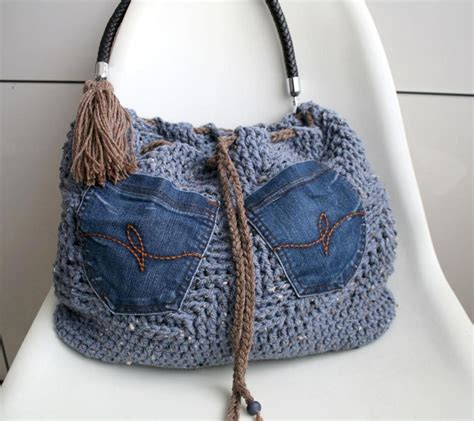 pattern for jeans bag denim crochet ideas 3 ways to use denim in crochet projects
