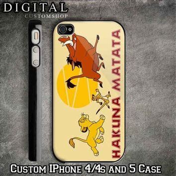 Disney The King Hakuna Matata Iphone 4 4s 5 5s 6 6s 6 Plus hakuna matata king custom black from digitalcustomshop on