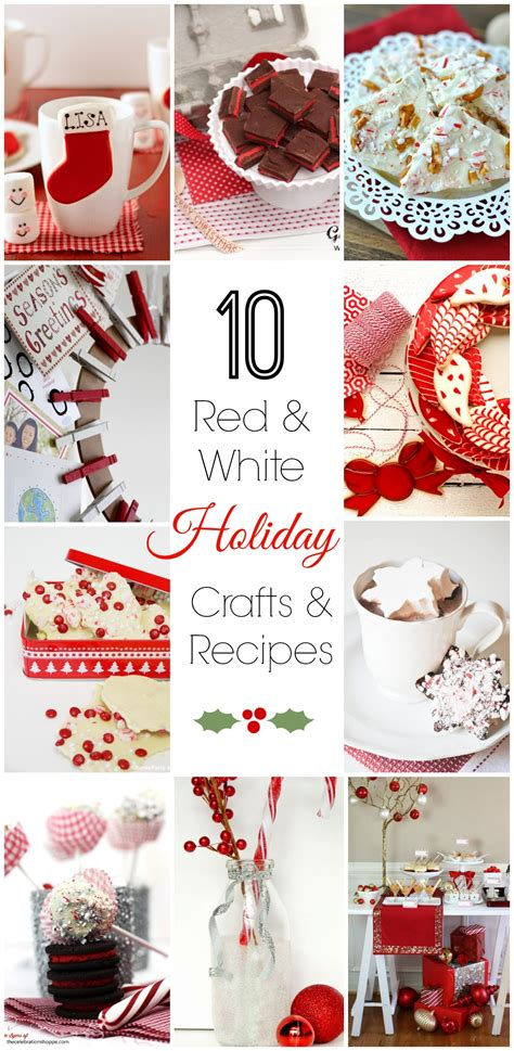10 red and white holiday crafts recipes catch my party