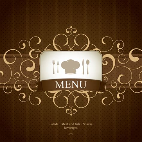 design graphics online for free vector set of restaurant menu design graphics 01 vector