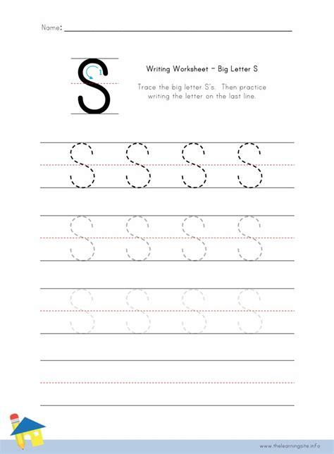 alphabet worksheet letter s writing letter s worksheets for kindergarten