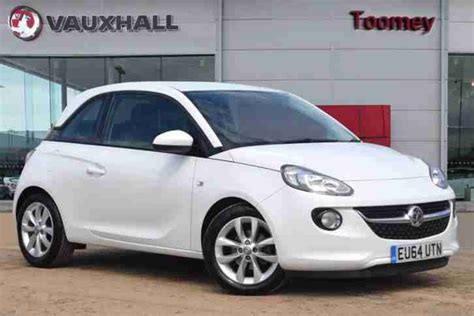 vauxhall white 2014 vauxhall adam jam petrol white manual car for sale