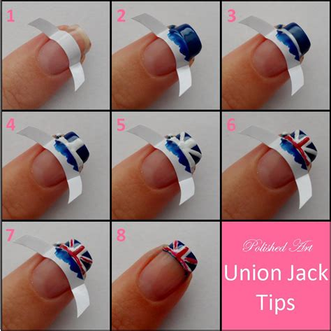 nail step by step polished union tips tutorial