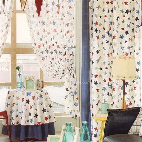 star nursery curtains cotton window curtain star pattern nursery curtains 2016