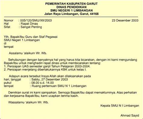 contoh surat pengumuman resmi