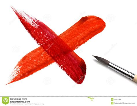 x paint brush and paint cross scratch stock images image 17062284