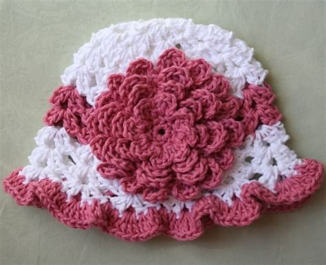 free crochet pattern newborn flower hat crochet baby hats