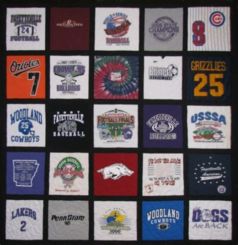 t shirt quilts custom made from your favorite t shirts