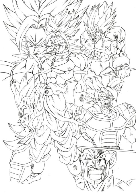 goku vs broly coloring pages coloring pages