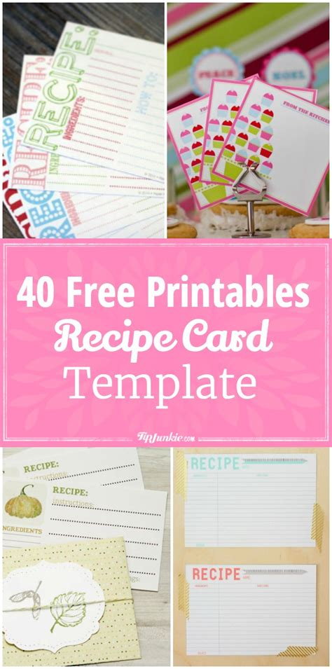 hp templates recipe cards 40 recipe card template and free printables tip junkie