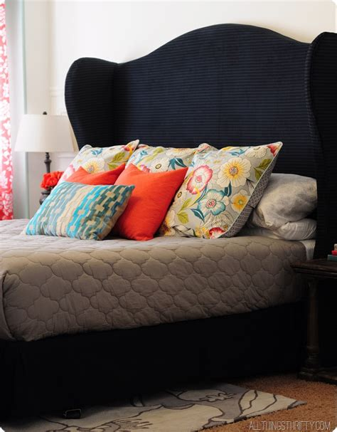 diy wingback upholstered headboard 20 diy headboard projects the craftiest couple