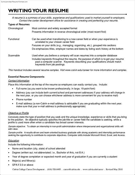 Career Resume Template by Career Resume Templates Free Sles Exles Format