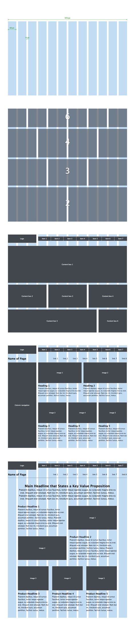 grid layout ux grid system wireframe and page layout on pinterest