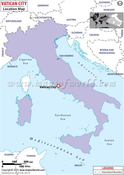 vatican city world map where is vatican city vatican city location in the world map