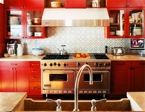 red kitchen cabinets ideas the red white kitchen ideas for your home my kitchen