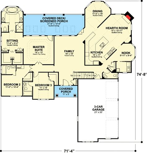 Reverse Ranch House Plans Mibhouse Com
