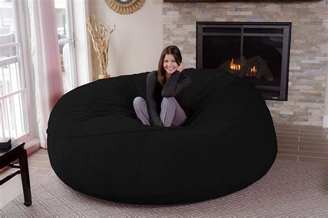 largest bean bag chair in the world chill sack bean bag chair 8 memory foam furniture