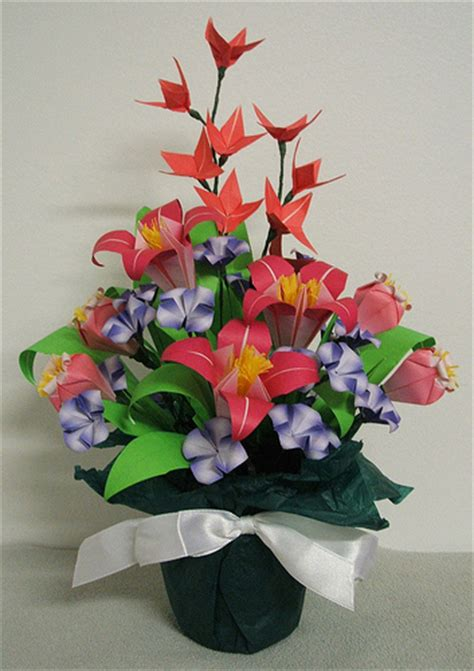 Origami Flower Arrangements - washinoya origami arrangement flickr photo