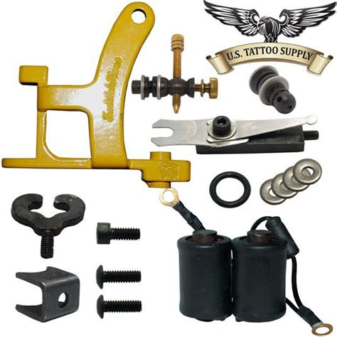 tattoo build kit new h tattoo machine part kit yellow us tattoo supply