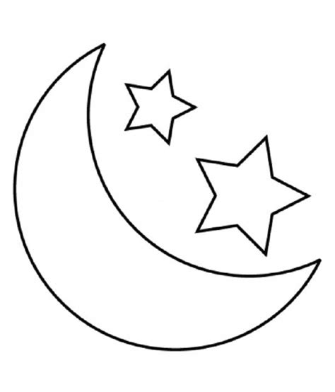 Coloring Pages Of Stars And Moon Coloring Part 2 Moon Coloring Page