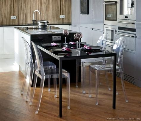 Kitchen Island Tables Modern Luxury Kitchen With Black Island Table And