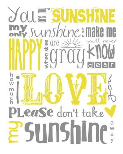 printable lyrics you are my sunshine you are my sunshine subway art instant download by