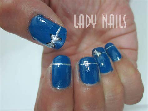 imagenes de uñas pintadas en azul dise 241 o azul con lazo plateado lady nails